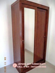 Gambar Lemari Baju Minimalis Jati Pintu 2 Slide 2 225x300