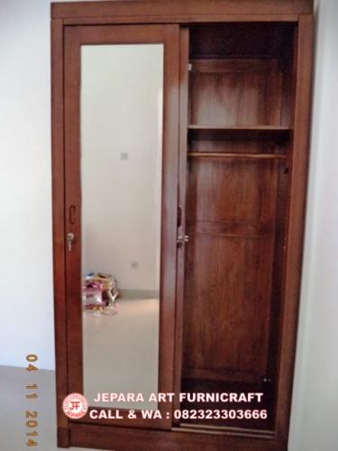 Gambar Lemari Baju Minimalis Jati Pintu 2 Slide 5