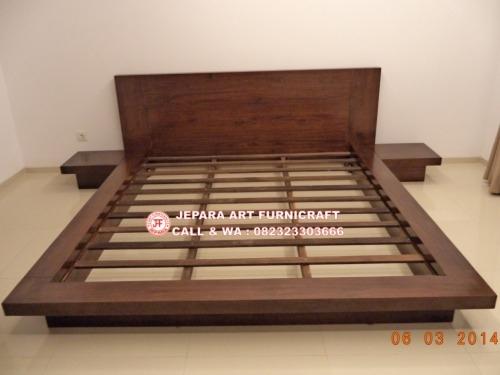 Gambar Tempat Tidur Minimalis Jati Jepang Modern 1 640x480