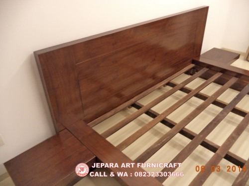 Gambar Tempat Tidur Minimalis Jati Jepang Modern 2