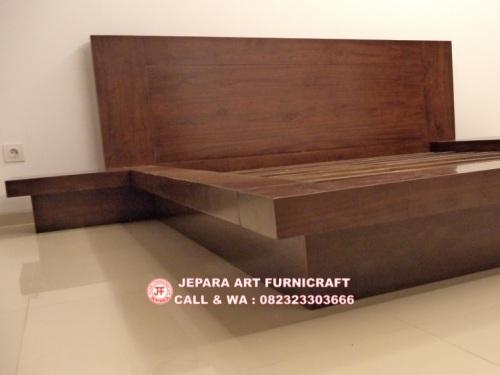 Gambar Tempat Tidur Minimalis Jati Jepang Modern 4