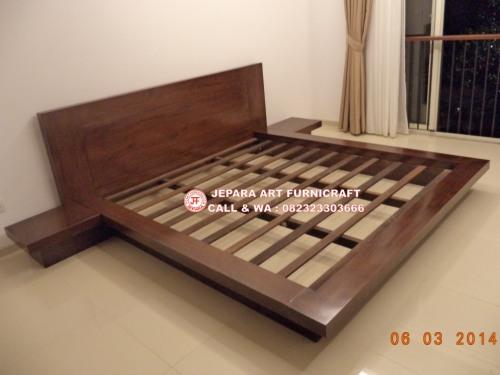 Gambar Tempat Tidur Minimalis Jati Jepang Modern 5