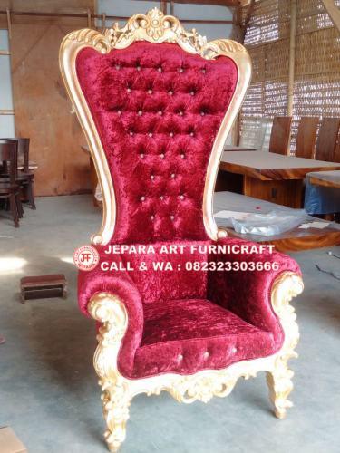 Gambar Kursi Sofa Mewah Cobra Red Velvet 1