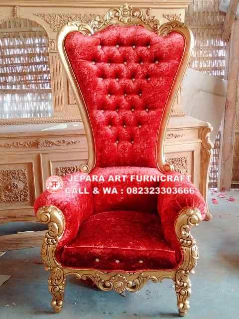 Gambar Kursi Sofa Mewah Cobra Red Velvet 3