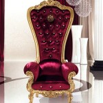 Gambar Luxury and Elegant like Throne Armchair of King Furniture by Bretz Stylish Red Chair Design 150x150