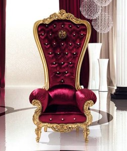 Cobra Armchair Gold Leaf Velvet
