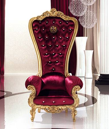 Sofa Klasik Cobra Armchair Gold Leaf Velvet