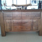 Meja Minimalis Drawer Giant Solid Wood