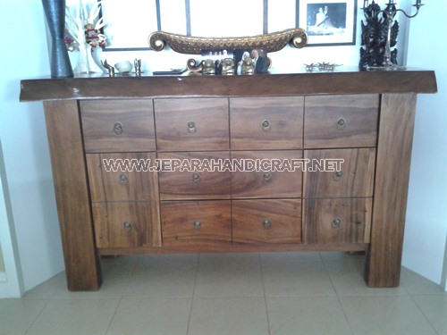 Meja Minimalis Drawer Giant Solid Wood