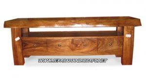 Rak TV Minimalis Solid Wood 4 laci