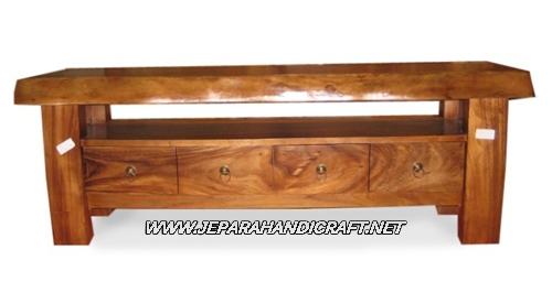 Gambar Cradenza TV Antik Solid Wood 4 Laci