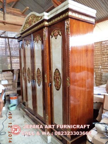Jual Lemari Jati Rahwana Marmer Kanopi Harga Murah
