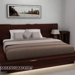 Tempat Tidur Minimalis Antik Solid Wood Natural