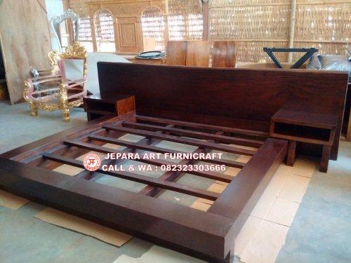 Toko Furniture Tempat Tidur Minimalis Antik Solid Wood Natural Harga Murah