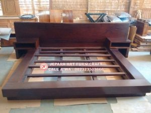 Gambar Tempat Tidur Minimalis Antik Solid Wood Natural 2 300x225