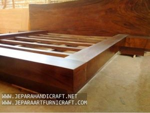 Gambar Tempat Tidur Minimalis Antik Solid Wood Natural 3 300x225