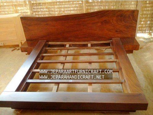 Toko Online Tempat Tidur Minimalis Antik Solid Wood Natural Harga Murah