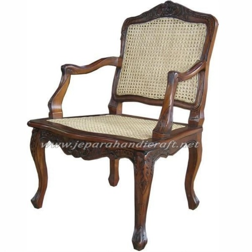 Kursi Rotan French Arm Chair