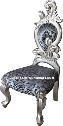 Kursi Sofa Renaissance New Silver Leaf