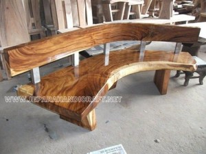 Kursi Taman Antik Solid Wood Hollow