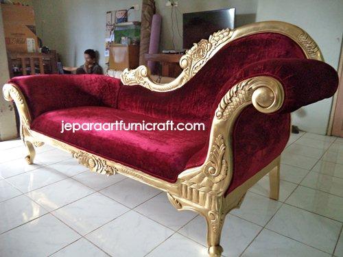Gambar Sofa Ruang Tamu Cleopatra Velvet Gold
