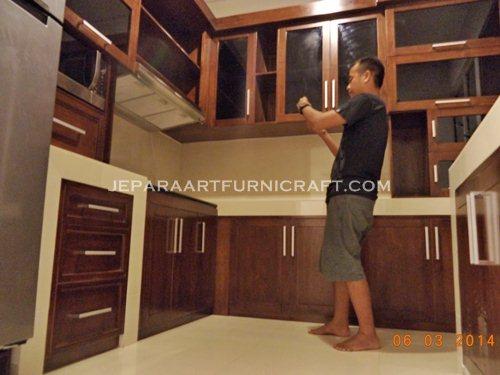 Paling Laris Kitchen Set Minimalis Jati Jepara Terbaru Harga