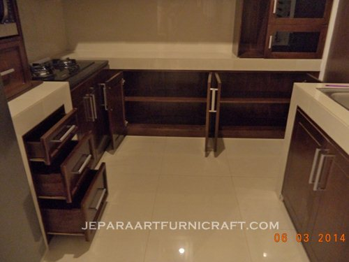 Paling laris kitchen set minimalis jati harga murah for Harga kitchen set jati