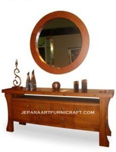 Meja Minimalis Laci Cermin Solid