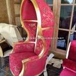Kursi Sofa Mewah Umbrella Gold Leaf