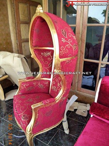 Gambar Kursi Sofa Mewah Umbrella Gold Leaf 2