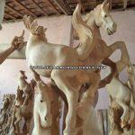 Patung Relief Kuda Jati Gembol