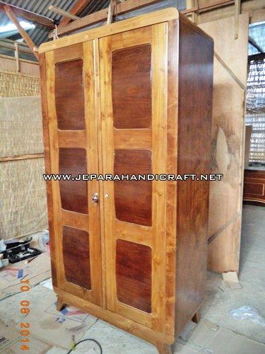 toko Furniture Jual Lemari Pakaian Minimalis Jati Convex Harga Murah
