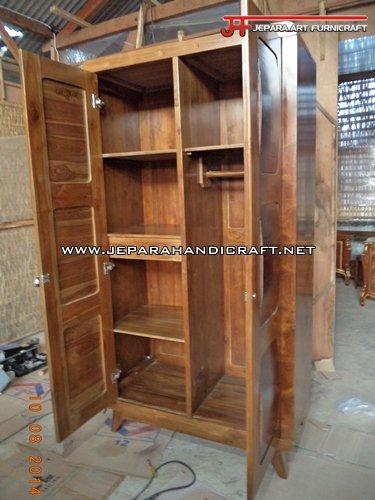 Furniture Lemari Pakaian Minimalis Jati Convex