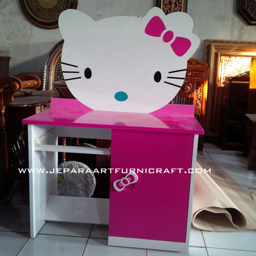 Meja Lemari Belajar Hello Kitty