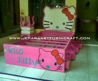Jual Tempat Tidur Anak Hello Kitty Murah Berkualitas