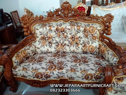 Gambar Kursi Ruang Tamu Barcelona Natural 2 Seater