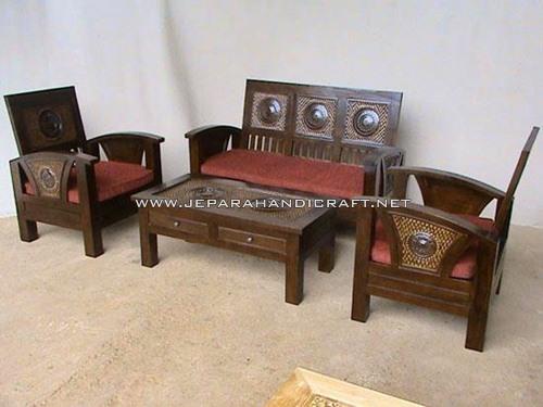 Dijual Kursi Tamu Minimalis Jati Flamboyan Murah