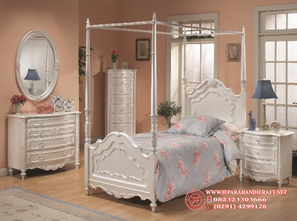 Jual Kamar Set Anak La Rosa Blanca Canopy Harga Murah