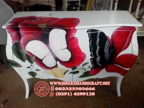 Meja Buffet Commode Painting