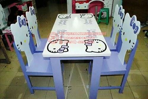 Harga Meja Makan Hello Kitty Modern Murah