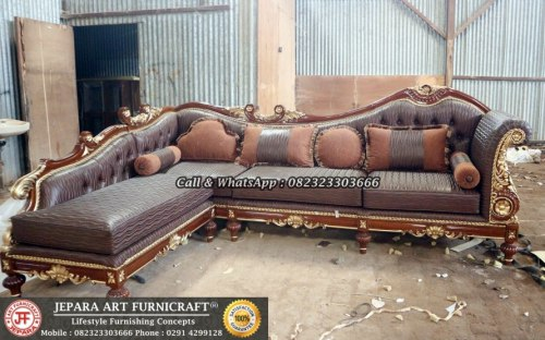 Gambar Sofa Ruang Tamu Mewah Classic Sudut Cleopatra 1