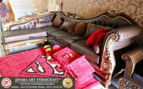 Gambar Sofa Ruang Tamu Mewah Classic Sudut Cleopatra 2