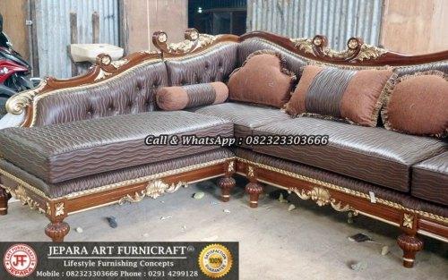 Gambar Sofa Ruang Tamu Mewah Classic Sudut Cleopatra 3