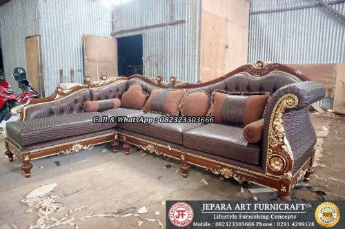 Gambar Sofa Ruang Tamu Mewah Classic Sudut Cleopatra