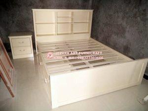Gambar Tempat Tidur Minimalis Anak Novel Duco Putih 300x225