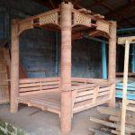 Gazebo Minimalis Kayu Kelapa New Alfa