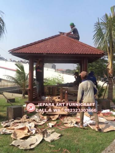 Gambar Instalasi Gazebo Ancol Seafront 2