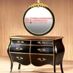Meja Drawer Classic Specchio Bulat