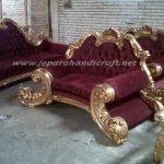 Sofa Ruang Tamu Klasik Jackson Red Velvet