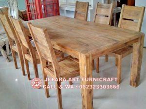 Gambar Kursi Makan Minimalis Jati Antik Recycled 8 300x225